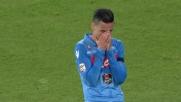 Callejon spreca un bel contropiede del Napoli con un tiro che finisce fuori