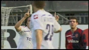 La Fiorentina aggancia il Cagliari con un goal di Jovetic