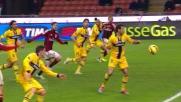 Rodriguez scomposto allarga le braccia e causa il rigore per il Milan