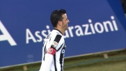 Di Natale piazza nell'angolino della porta del Lecce il goal vittoria al Friuli