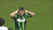 La traversa nega il goal a Falcinelli