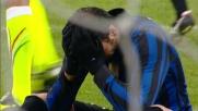 Pazzini scivola e sbaglia il rigore in Inter-Udinese