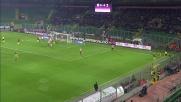 Honda cerca il goal direttamente da calcio d'angolo a Palermo
