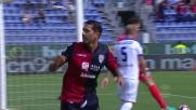 Il tocco mancino di Borriello vale l'1-0 del Cagliari sull'Atalanta