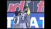 Quagliarella finalizza il contropiede dell'Udinese e realizza il 2-0
