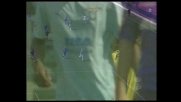 Palo esterno di Rocchi contro la Fiorentina