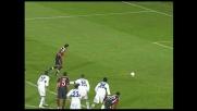 Acquafresca segna su rigore il goal vittoria del Cagliari con l'Atalanta