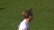 Maxi Lopez per il goal della bandiera a Cagliari