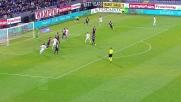 Finisce alto il tentativo di testa di Podolski a Cagliari