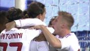 Ibrahimovic porta in vantaggio il Milan a Marassi segnando un goal su calcio di rigore