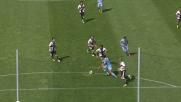 Gran tiro di Ederson vicino al goal a Parma