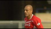 Di testa Almiron apre le marcature contro il Chievo