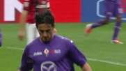 Il goal di Aquilani porta in vantaggio la Fiorentina a San Siro