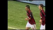 Gattuso segna il goal del vantaggio del Milan contro il Livorno
