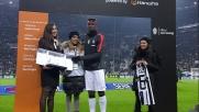 Pogba riceve la targa MVP