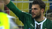 Karnezis respinge il tiro-cross di Perisic in Inter-Udinese