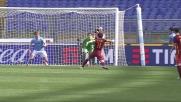 Nel derby di Roma Salah non sfrutta l'assist di Florenzi e calcia alle stelle