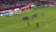 Milan pericoloso con la punizione di Bonaventura, Consigli controlla e devia in corner