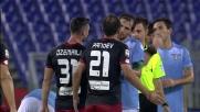 Pandev espulso contro la Lazio: che gomitata!