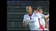 Bianco di testa per il goal  dell'1-1 del Cagliari con l'Atalanta