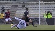 Matri cerca il goal a porta vuota ma Portanova recupera e salva sulla linea