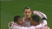 Ibrahimovic, goal al Palermo su assist di Robinho