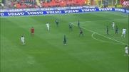 Gran tiro di Mesto che si infrange sulla traversa contro l'Inter