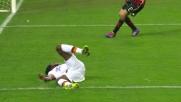 Gabriel abbatte Gervinho: il portiere del Milan regala un rigore alla Roma