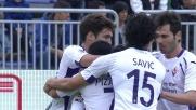 Mati Fernandez firma il vantaggio della Fiorentina a Cagliari