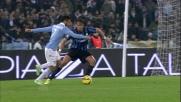 Il tiro di Felipe Anderson trova attento Sportiello all'Olimpico di Roma