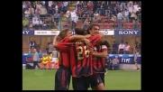Colpo di testa di Pancaro che trova il goal contro il Messina