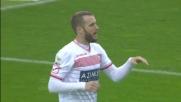 Sportiello nega il goal a Fedele con la punta delle dita
