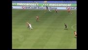 La parata di Navarro sulla conclusione di Mauri nega un goal alla Lazio