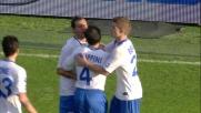 Diamanti centra il sette e segna il goal del vantaggio del Brescia sulla Fiorentina