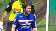 Al Friuli il diagonale di Sansone finisce sul palo della porta dell'Udinese