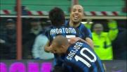 Nagatomo fa goal e partecipa alla festa dell'Inter al Meazza