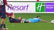 Il Napoli guadagna un rigore con Hamsik nella sfida contro il Genoa
