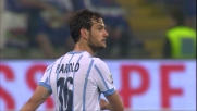 Il tiro di Parolo contro la Sampdoria finisce di poco a lato