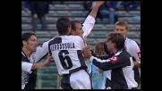 Portanova risponde a Couto con il goal dell'1-1 in Lazio-Siena