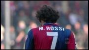 Il tiro di Marco Rossi colpisce il palo contro il Cagliari