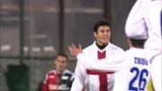 Cruz trova l'angolino e il goal: Inter in vantaggio contro il Cagliari