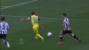 Pellissier segna il goal all'Udinese da posizione defilata