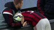Il Milan prova a colpire con un tiro di Antonelli, ma Brkic trova il tempo giusto e para