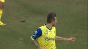 Thereau segna il goal vittoria del Chievo contro il Genoa