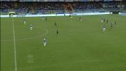 Brkic respinge col piede un tiro al volo di Icardi nell'area dell'Udinese