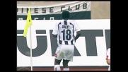Sulley Muntari realizza il goal vittoria dell'Udinese al Friuli