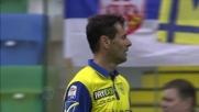 Gobbi di testa anticipa Widmer all'ultimo istante e salva il Chievo