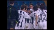 Felipe di testa batte Storari e segna il goal vittoria per l'Udinese contro il Messina