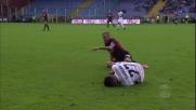 Rigoni prima perde palla e poi commette fallo contro l'Udinese