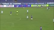 Cuadrado cambia direzione con il tacco in Lazio-Fiorentina